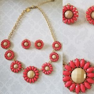 Orange necklace set